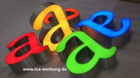 Foto 28 Außenwerbung Leuchtreklame Leuchtwerbung Leuchtkästen Leuchtbuchstaben beleuchtete Schriftzüge 3D LED Einzelbuchstaben Reklame Werbung   Gewerbeimmobilien 3D LED RGB