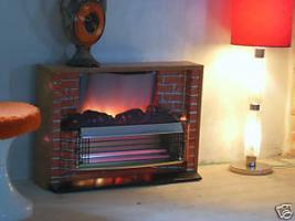 Foto 3 Außergewöhnlicher Heizkorper in Form einer Kamine, Wärmend mit Licht !! Kunstoff Kamine 60- 70er : Voll funktionfähig