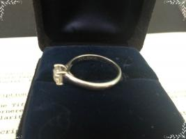Foto 3 Auth. Tiffany & Co Lucida Platin Diamant-Ring VVS1 0.89ct
