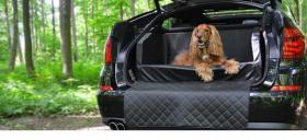 Auto Hunde Kofferraumbett Travelmat Plus Kunstleder Hunde Auto Reisebett diverse Größen & Farben