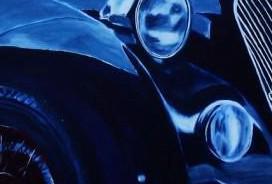 Foto 2 Auto gemalt, Autogemälde, Autozeichnung