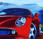 Foto 3 Auto gemalt, Autogemälde, Autozeichnung