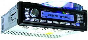 Autoradio CD+MP3 Megakick ''Bermuda'' RDS, 4x45W, USB+Cardslot, Fernbed. blaues Display