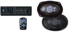 Autoradio mit CD / MP3 / USB / SD + 2 st. 5 wege Lautsprecher oval