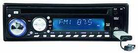 Autoradio MEGAKICK ''Vegas'', CD+MP3, USB+SD-Card, AUX-Eingang, RDS