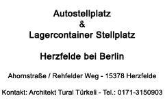 Autostellplatz Berlin und Containerstellplatz Berlin