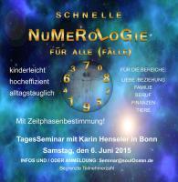 BAD NEUENAHR-AHRWEILER +++ SEMINAR: SCHNELLE NUMEROLOGIE für ALLE (Fälle) - alltagstauglich, hocheffizient, kinderleicht !