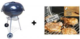 BBQ Kugelgrill + 90 tlg. Grill BBQ - Brandeisen - set