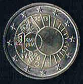 BELGIEN 2 Euro Gedenkmünze Jahr 2013 Prägefrisch Bankfrisch .