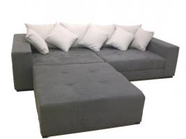big sofa xxl inkl hocker megasofa grau in berlin. Black Bedroom Furniture Sets. Home Design Ideas