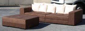 BIG SOFA XXL INKL. HOCKER NEU Megasofa