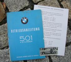BMW 501 /6 Betriebsanleitung (1957) Barockengel