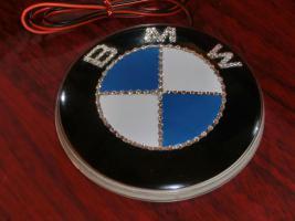 Foto 2 BMW EMBLEM Swarovski Desing veredelt(Handarbeit)mit LED