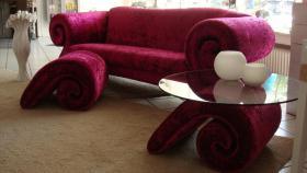 BRETZ Sofa & Hocker & Glastisch (Serie MAMMUT) NEU