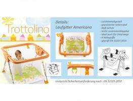 baby laufgitter laufstall neu klappbar pali americano trottolino in berlin. Black Bedroom Furniture Sets. Home Design Ideas