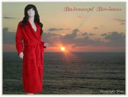 Bademantel Bordeaux - Größen L/XL/XXL -
