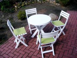 Balkon/Garten Sitzgruppe weiß