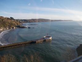 Balkon über dem Meer/Cornwall/Pilcher-land