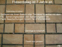 Foto 5 Balkonsanierung, Balkonabdichtung, Balkon Trockenlegung, Balkonbeläge fugenfrei, vom Profi  Fautz seit 1989 FB - Sanierungstechnik Balkon, Terrasse Fautz Beschichtungen GmbH Tel.07832/969693 in Karlsruhe, Pforzheim, Mannheim, Heidelberg, Schwetzingen,