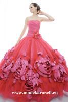 Ballkleid Brautkleid Abendkleid 2012 in Rot Dunkelrot Weinrot Burgundy