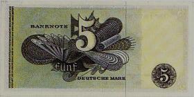 Foto 2 Banknote Fünf Deutsche Mark