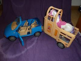 barbie auto mit pferdeanh nger und einhorn in karlsruhe. Black Bedroom Furniture Sets. Home Design Ideas
