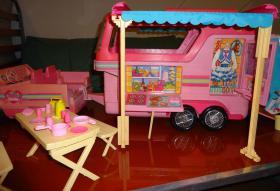 barbie pferdeanhänger
