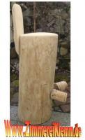 Barhocker, Baumstammhocker mit Lehne