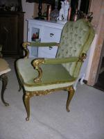 Foto 3 Barock - Antik Stil - 2 Sessel, 1 Sofa, Tisch mit Marmorplatte