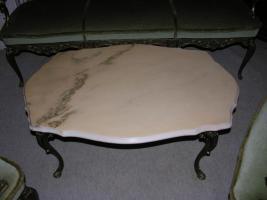 Foto 4 Barock - Antik Stil - 2 Sessel, 1 Sofa, Tisch mit Marmorplatte