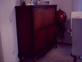 Barschrank dunkel Nußbaum Antiquität