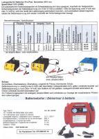 Batterielader+Sofortstarter Neuheit 2012