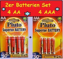 Batterien-Set 4 x Micro AAA R03P 1,5V + 4 x Mignon R6P 1,5V