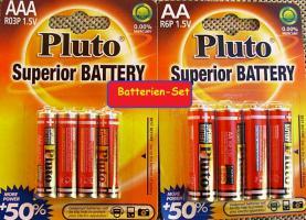 Foto 4 Batterien-Set 4 x Micro AAA R03P 1,5V + 4 x Mignon R6P 1,5V