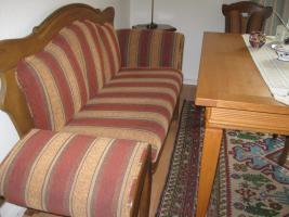 Bauernsofa Eiche mit 4 Stühlen