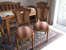 Foto 4 Bauernsofa Eiche mit 4 Stühlen