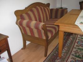 Foto 7 Bauernsofa Eiche mit 4 Stühlen