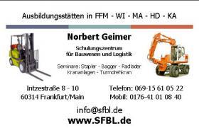 Foto 9 Baumaschinenf�hrerschein, Gabelstaplerschein, Staplerschein Darmstadt, sfbl.de , Baggerf�hrerschein, Kranschein