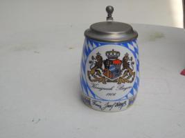 Bayerischer Bierkrug signiert von Franz Josef Strauß
