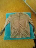 Beige Sweatshirtjacke