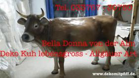 Bella Donna  von der Alm - Deko Kuh lebensgross