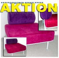 Bequemer Designer Sessel mit großer Sitzfläche.