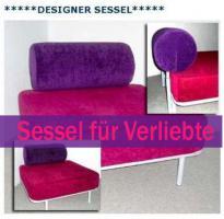 Foto 2 Bequemer Designer Sessel mit großer Sitzfläche.