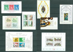 Berlin postfrisch Block 2-8 und Block 1 als Faksimile wie auf Bilder zu sehen, ohne Steckkarten.