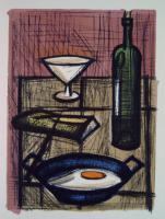 Bernard Buffet - Still-life with a fried egg