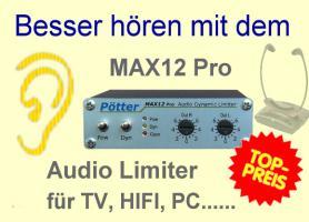 Besser Hören mit MAX12 Hörhilfe bei TV Schwerhörigkeit