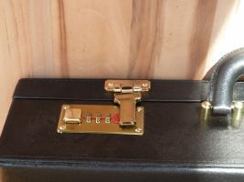 Foto 8 Besteckkoffer von SB 24 Karat Hartvergoldet komplett für 12 Personen mit zahlreichen Vorlegeteilen in Originalkoffer und unbenutzt