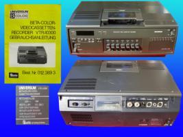 Beta-Color-Videocassettenrecorder Universum, Modell VTR-10300