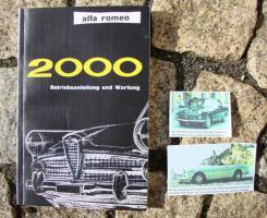 Betriebsanleitung Alfa Romeo 2000 Berlina / Spider 1960