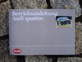 Betriebsanleitung Audi Quattro 1984